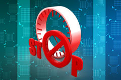 3D stoppen Illustration Lizenzfreies Stockfoto