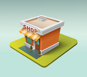 3d store icon Royalty Free Stock Photography