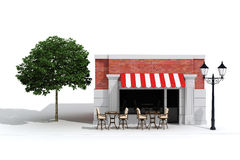 3d store shop front with big windows Stock Image