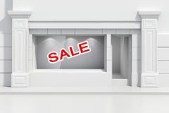 3d store shopfront Royalty Free Stock Images