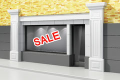 3d store shopfront Royalty Free Stock Image