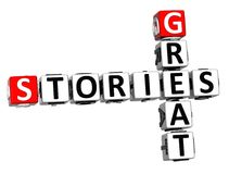 3D Stories Great Crossword on white background Royalty Free Stock Photo
