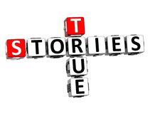 3D Stories True Crossword on white background Stock Images