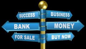3d strade trasversali, parola di affari, illustrazione Fotografie Stock Libere da Diritti
