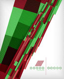 3d straight lines geometric abstract background Royalty Free Stock Photos