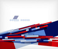 3d straight lines geometric shape background Royalty Free Stock Photos