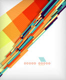 3d straight lines geometric shape background Stock Photo