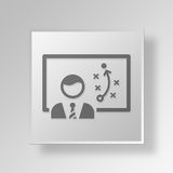 3D strategy icon Business Concept Royalty Free Stock Images