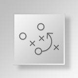 3D strategy icon Business Concept Stock Images