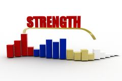 3d strength Stock Photography