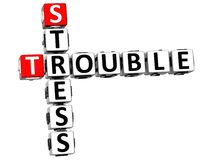 3D Stress Trouble Crossword Royalty Free Stock Photo