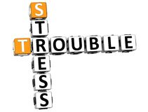3D Stress Trouble Crossword Royalty Free Stock Photography