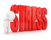 3d stresu biali ludzie Obraz Stock