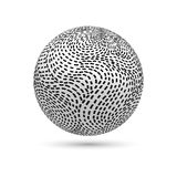 3d striped ball. On white background.vector illustration Stock Photo