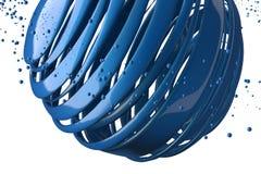 3D striped decorative balls. Stock Images
