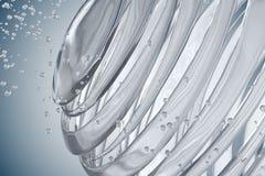 3D striped decorative balls. Abstract 3d illustration. Glass Stock Photos