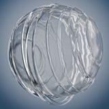 3D striped decorative balls. Stock Photos