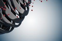 3D striped decorative balls. stock illustration