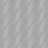 3D striped interlocking waves on gray Stock Images