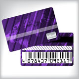 3d striped loyalty card design Royalty Free Stock Photography