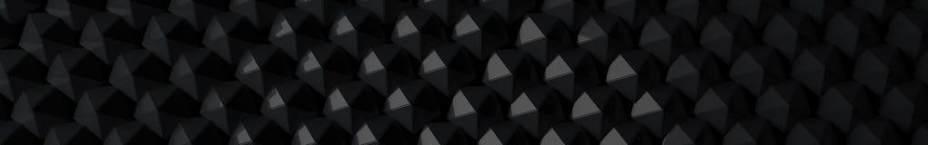 3D strony internetowej Elegancka Ciemna głowa ilustracja wektor