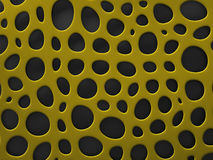 3D structural mesh organic background. Yellow 3D structural mesh organic background. Render Royalty Free Stock Photography