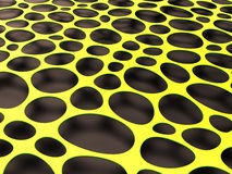 3D structural mesh organic background. Yellow 3D structural mesh organic background. Render Stock Image