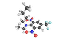 3d structure of benfluralin, a herbicide of the dinitroaniline  Royalty Free Stock Images