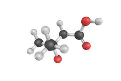 3d structure of beta-Hydroxyisovaleric acid, a naturally produce. D substance in humans used as dietary supplement and as an ingredient in some medical food stock illustration