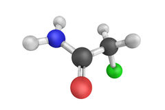 3d structure of Chloroacetamide, a chlorinated organic compound Royalty Free Stock Photography