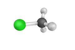 3d structure of Chloromethane, also called methyl chloride, a ch. Emical compound of the group of organic compounds called haloalkanes. It was once widely used Stock Images