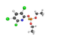 3d structure of Chlorpyrifos, a crystalline organophosphate Royalty Free Stock Photo