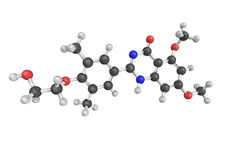 3d structure d'Apabetalone, une petite molécule oralement disponible Photographie stock