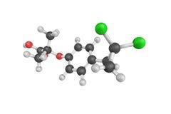 3d structure de Ciprofibrate, un fibrate qui a été développé comme a Photo libre de droits