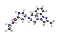 3d structure de Teneligliptin, une drogue pharmaceutique illustration libre de droits