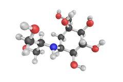 3d structure de Voglibose, un inhibiteur d'alpha-glucosidase illustration libre de droits