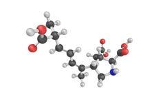 3d structure of Domoic acid (DA) is a kainic acid analog neuroto Stock Photography