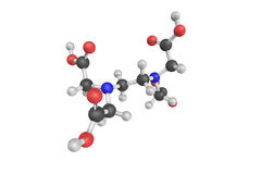 3d structure of Edtacal, also known as Calcium disodium EDTA Royalty Free Stock Photos