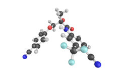 3d structure of Enobosarm, also known as ostarine, an investigat Royalty Free Stock Photo