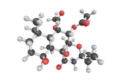 3d structure of Forskolin J, a powdery type of diterpenoid Royalty Free Stock Image