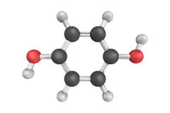 3d structure of Hydroquinone, also known as quinol, an aromatic compound. 3d structure of Hydroquinone, also known as quinol, an aromatic organic compound that royalty free illustration