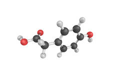 3d structure of 4-Hydroxyphenylacetic acid, a chemical compound. Found in olive oil and beer Royalty Free Stock Photos