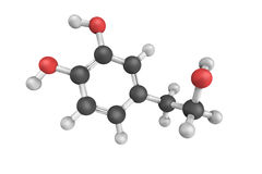 3d structure of Hydroxytyrosol, a type of phenolic phytochemical Royalty Free Stock Photo