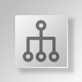 3D Structure icon Business Concept. 3D Symbol Gray Square Structure icon Business Concept Stock Photo