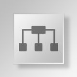 3D Structure icon Business Concept. 3D Symbol Gray Square Structure icon Business Concept Royalty Free Stock Images