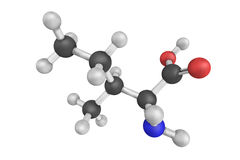 3d structure of Isoleucine, an alpha-amino acid Royalty Free Stock Images