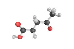 3d structure of Levulinic acid, an organic compound. Royalty Free Stock Photos