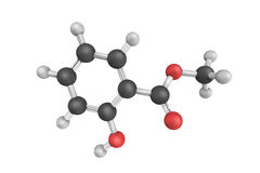 3d structure of Methyl salicylate is an organic ester Royalty Free Stock Photography