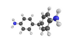 3d structure of 4,4'-Methylenedianiline (MDA) is a suspected car Royalty Free Stock Photos
