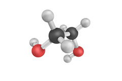 3d structure of Monoethylene glycol, an Ethylene glycol Stock Photo